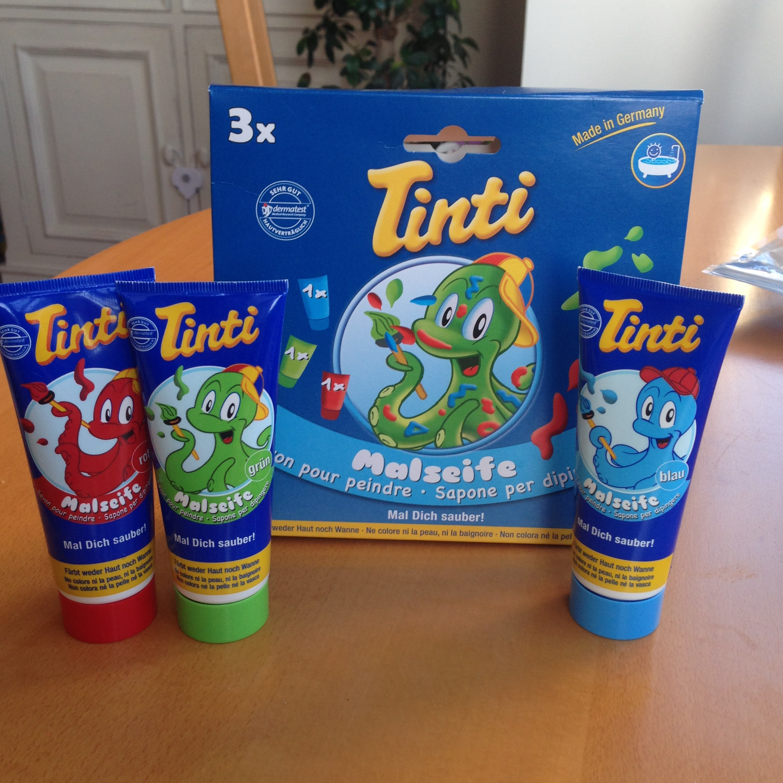 bain bébé savon peinture Tinti couleurs jeu jouet