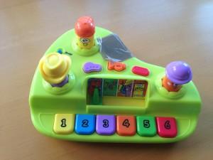 problème son jouets bébé piano trop fort