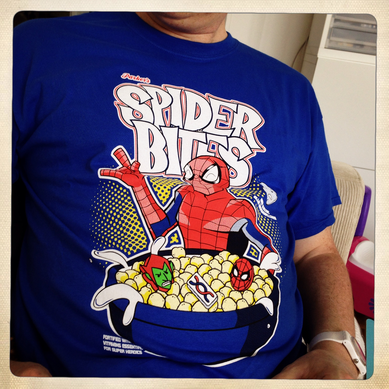 t shirt spider bites nerdblock france