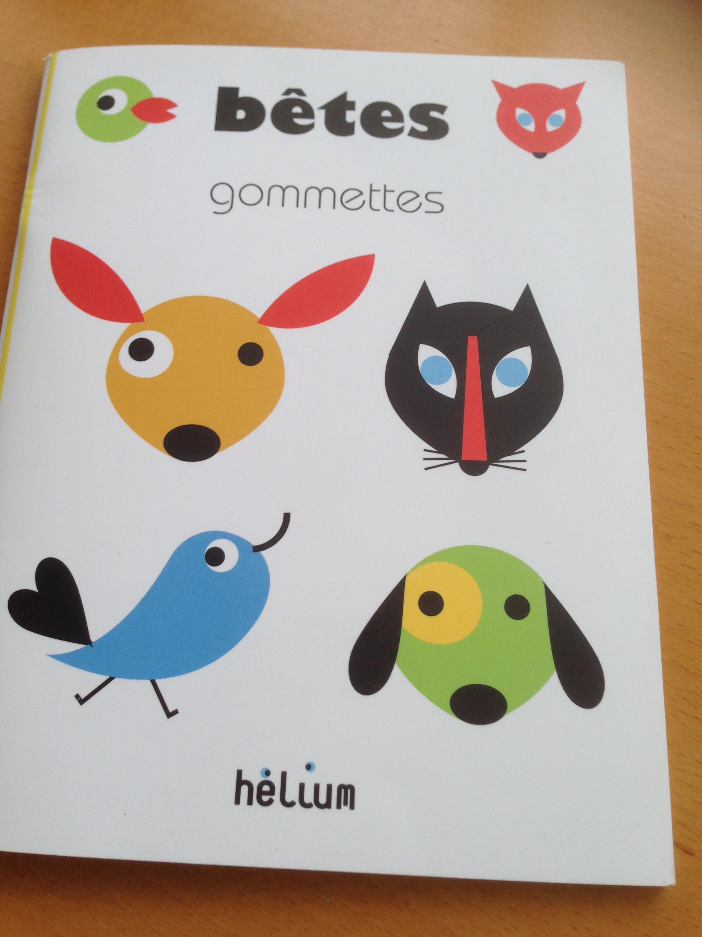 livre pour enfant avec des gommettes  bêtes gommettes couverture