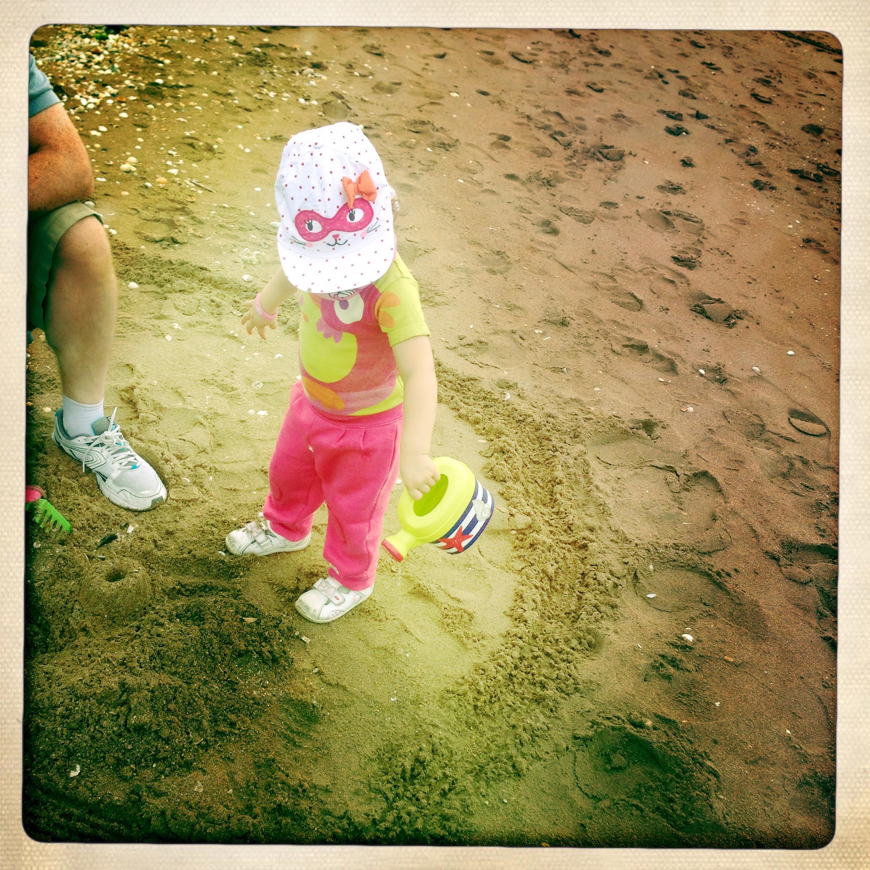 photo bébé plage