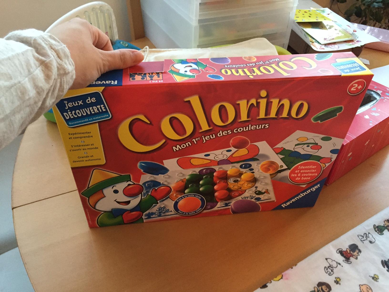 Colorino avis bébé boite