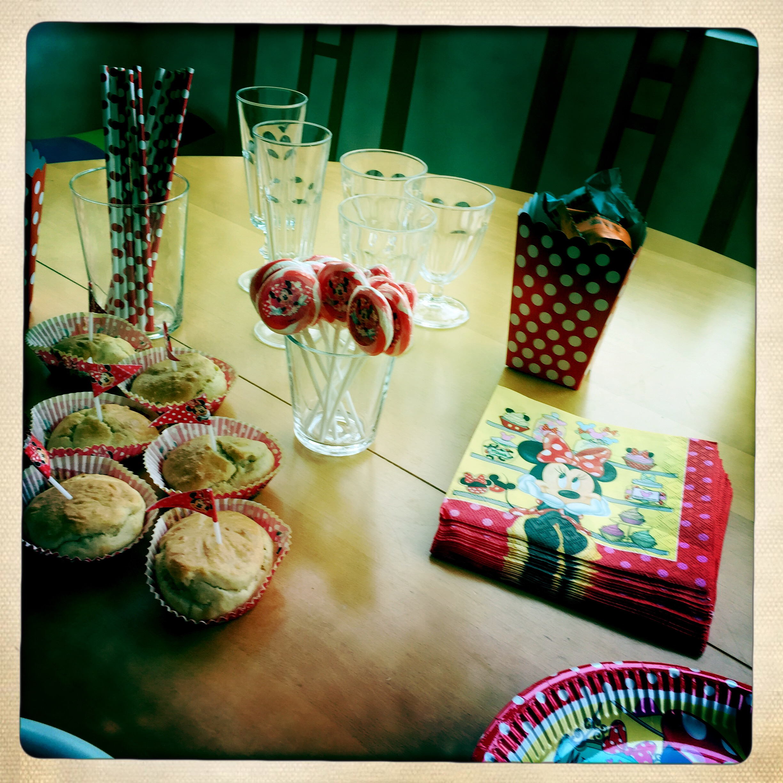 Gouter d'anniversaire thème Minnie