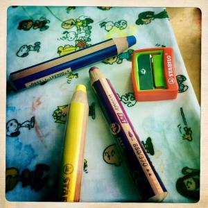 Gros crayon stabilo
