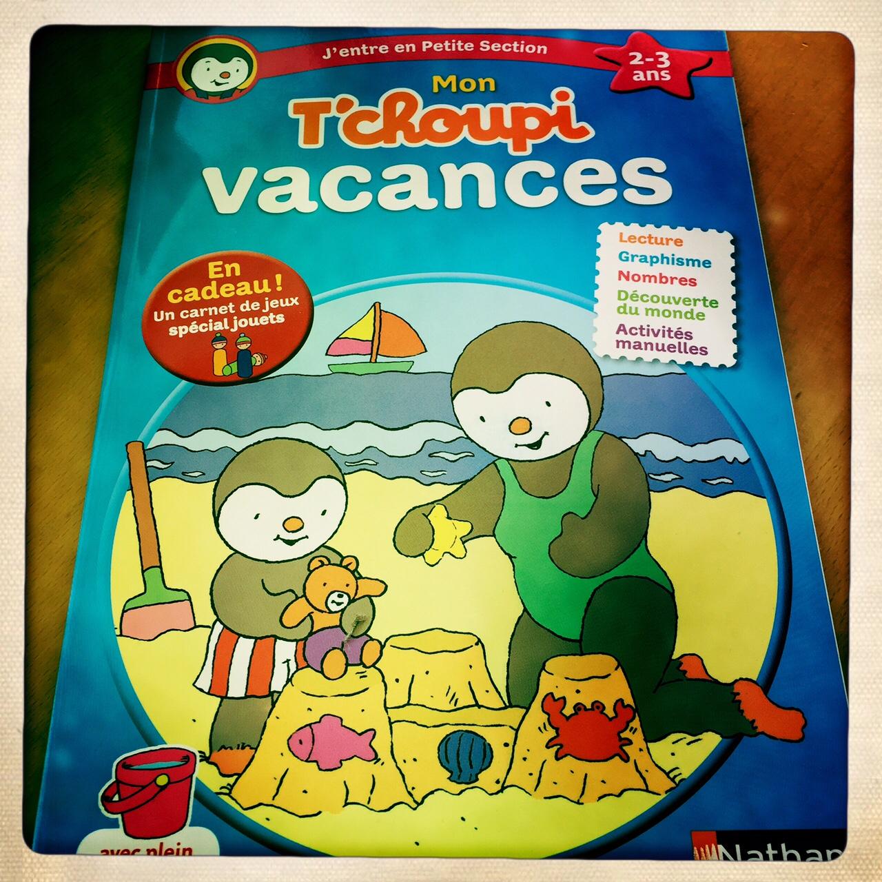 cahier de vacances tchoupi