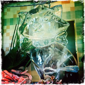 brunch inventions paris theme personnages Disneyland sculpture glace