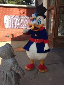 rencontrer les personnages à Disneyland Paris picsou
