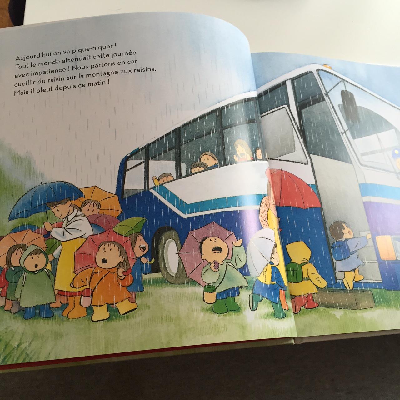 Livre Pique Nique sous la Pluie enfant