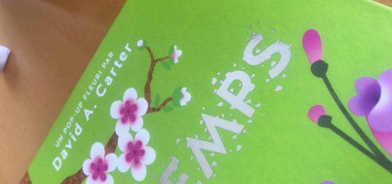 le livre pop up du printemps